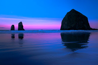 Photo: Haystack Rock!  There is a benefit to getting up at 4:30 in the morning... you get to capture images like this. Hard to believe that November is coming to a close and I got a sunny day at the beach in Oregon.