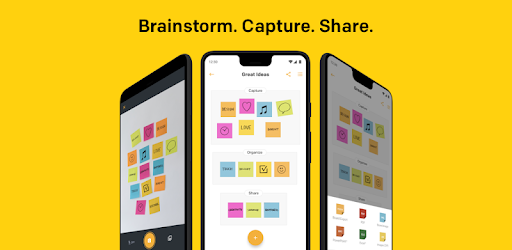 Brainstorm. Capture. Share. The Post-it® App helps you keep the momentum going.
