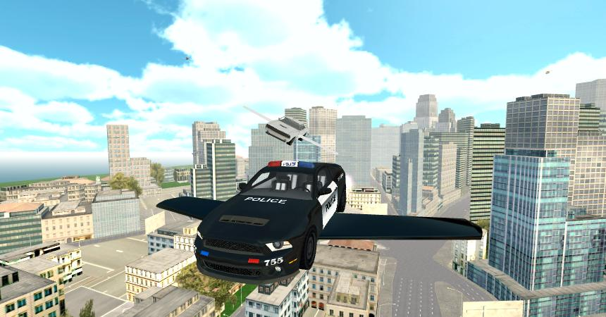 Flying Police Car Simulator- screenshot