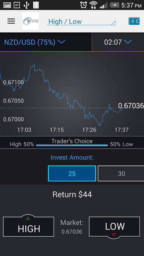 play binary options in rubles