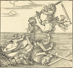 Photo: Albrecht Dürer (German, 1471 - 1528 ), Italian Joust, probably 1526, woodcut, Rosenwald Collection
