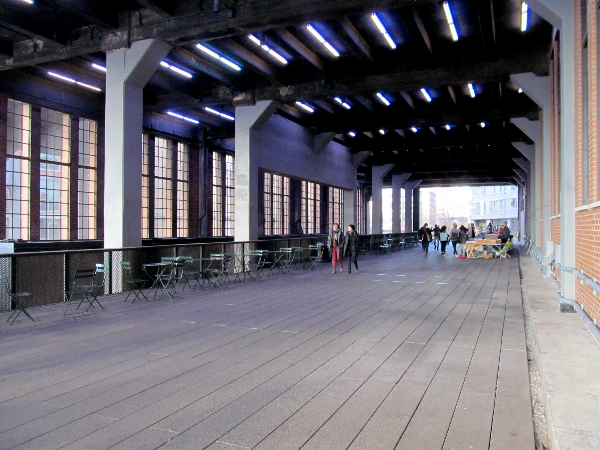 Photo: The High Line passing through a building