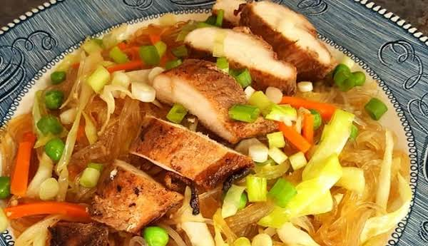 Grilled Chicken Over Stir-fried Glass Noodles Recipe