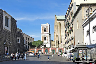Photo: Napels. Piazza del Gesù Nuovo.