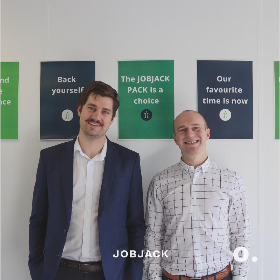 Christiaan van den Berg and Heine Bellingan the founders of JOBJACK