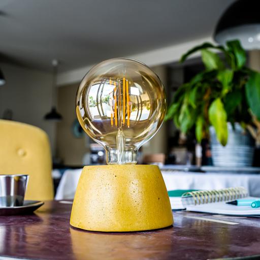 lampe dôme en béton