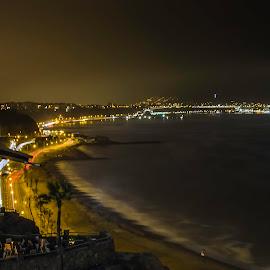 Costa Verde by Fico Stein Montagne - City,  Street & Park  Night ( shore, sea, ocean, beach, night shot, nikon d7000, nightscape,  )