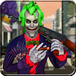 Real joker Clown Attack:Crime City Gangster Squad Icon