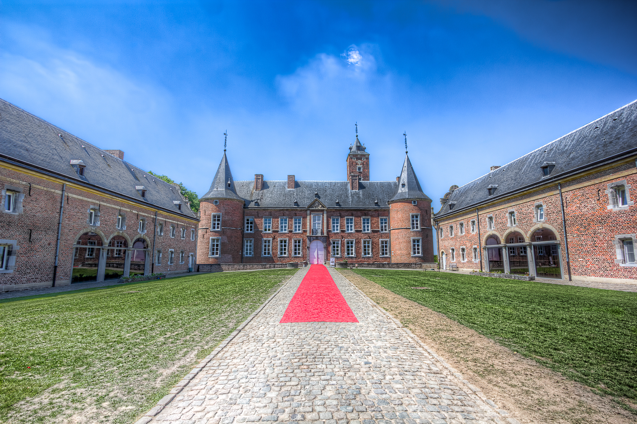 Photo: The castle in Alden Biesen (Bilzen, Belgium), home to a Deutschordensballei (bailiwick) of the Teutonic Order for a long time. The first castle was built in the 11th century, but the current castle was built between the 16th and 18th century. 