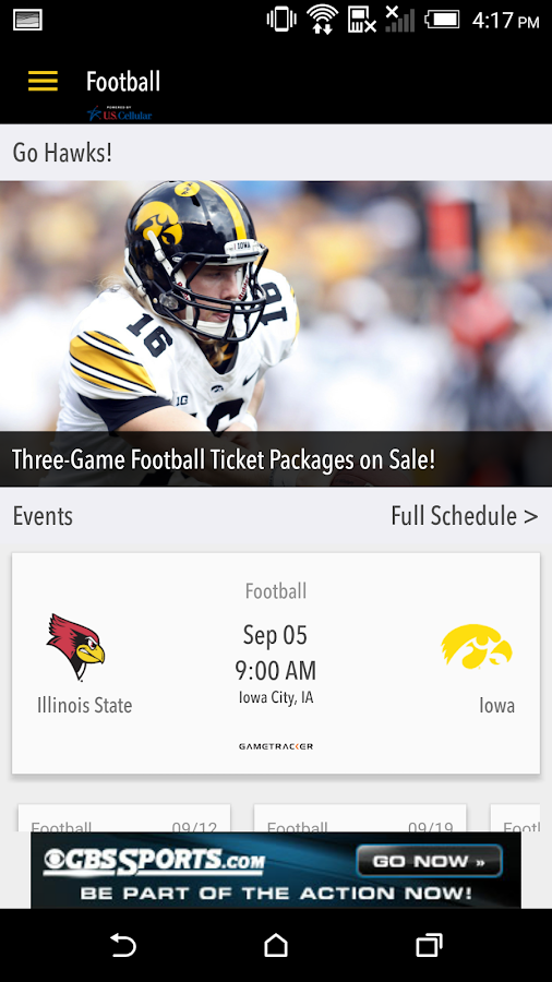 hawkeyesports.com Gameday LIVE - screenshot