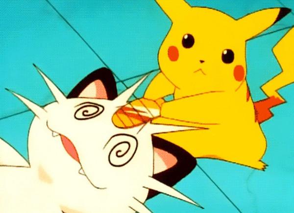 Pikachu và Meowth thuộc 2 thái cực