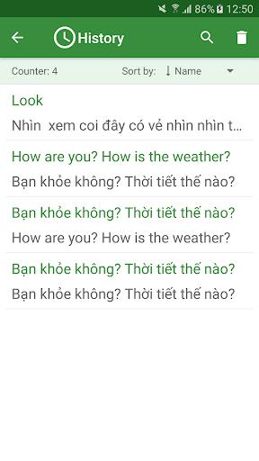 एंड्रॉइड / पीसी के लिए Vietnamese English Translator ऐप्स screenshot