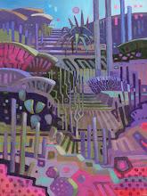 "Photo: ""Desert Tapestry"", acrylic on canvas 16"" x 12"", © Nancy Roberts"