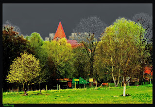 Photo: small church and the spring in Mecklenburg-Vorpommern