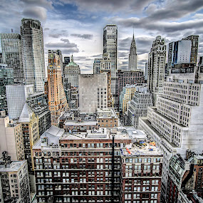 Welcome To The Jungle by Francis Hesse - Buildings & Architecture Office Buildings & Hotels ( clouds, sky line, manhattan, new york, new york city )