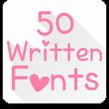 Fonts for FlipFont 50 Written download