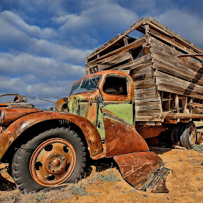 ~looking for work~ by Kirk Kimble - Transportation Other ( car, old, stakebed, truck, transportation, rust, antique )