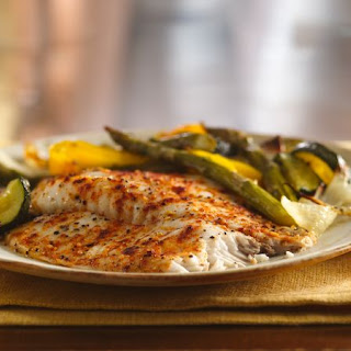 Roasted Tilapia and Vegetables.
