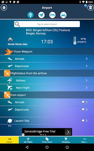 Bergen Airport (BGO) Radar app (apk) free download for Android/PC/Windows screenshot