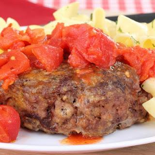 Hamburger Steaks with Tomato Gravy.
