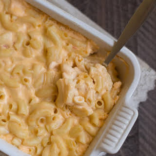 Baked Four Cheese Macaroni and Cheese.