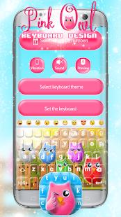 Pink Owl Keyboard - náhled
