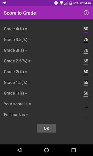 Score to Grade V2