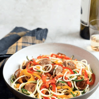 Sausage and Peppers with Zucchini Noodles