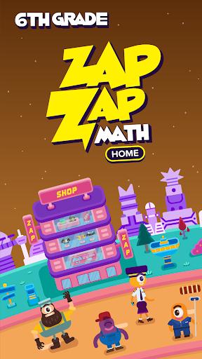 6th Grade Math: Fun Kids Games - Zapzapmath Home 1.0.3 screenshots 1