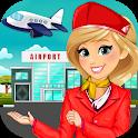 Airport Cabin Crew Girl: Airplane Flight Attendant icon