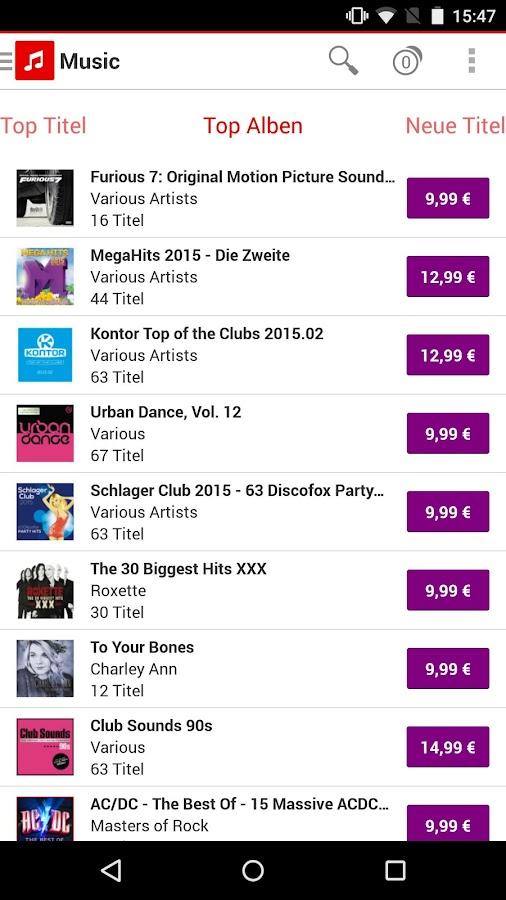 Vodafone Music Shop - screenshot