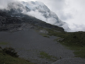 Photo: We are now on the lower parts of the Eiger.