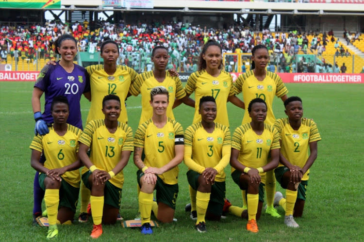South Africa during the 2018 TOTAL African Womens Cup of Nations between Nigeria and South Africa at Accra Sports Stadium on December 01, 2018 in Accra, Ghana.