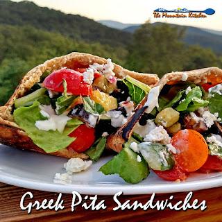 Greek Pita Sandwiches.