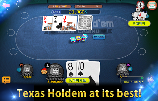 Boss Poker u2013 Texas Holdem Blackjack Baccarat apkslow screenshots 16