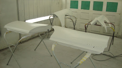 Photo: Fresh primer panels ready to be mounted and body work can begin