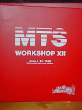 Photo: MTS Workshop XII at RPI, 8 to 14 June 1986, proceedings cover