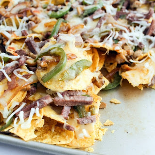Philly Cheese-Steak Nachos.