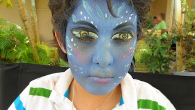 Photo: Avatar Boy Face Painting by Paola Gallardo from http://www.BestPartyPlanner.net