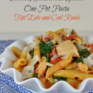 Chicken, Tomato and Spinach One Pot Pasta