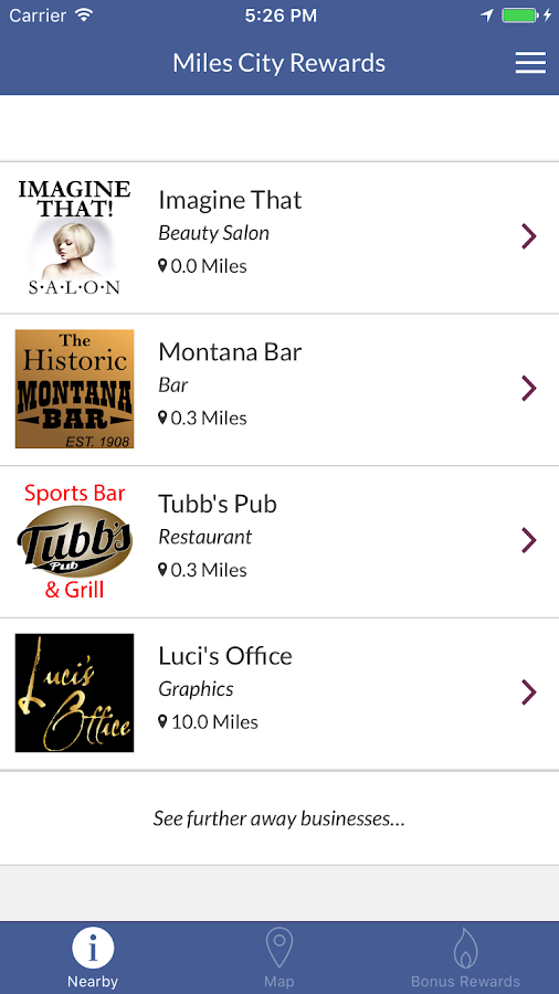 Miles City Rewards- screenshot