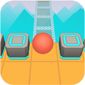Scrolling Ball in Sky: casual rolling game Icon