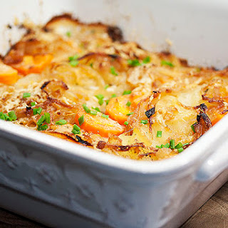 Potato, Carrot, and Turnip Gratin
