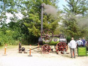 Photo: Maribo museum var på besøg med den eneste kørende damptraktor. / The museum of Maribo displayed the only operational steam tractor in Denmark.