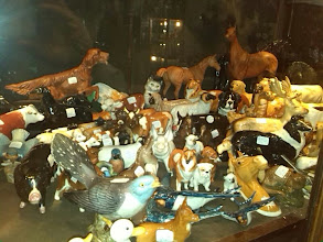 Photo: Pottery & figurines figuring prominently at Clare Boam's shops, this Beswick animal display one of many.