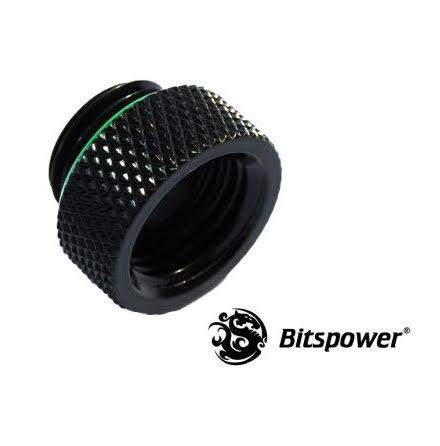 """Bitspower gjengeforlenger, 1/4""""BSP, Matt Black"""