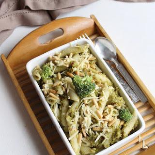 Broccoli Pesto Pasta With Pine Nuts.