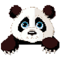 Panda Coloring By Number - Pixel Art icon
