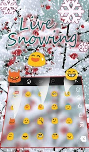 Live Snowing Keyboard Theme - náhled