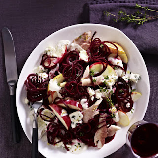 Beet, Apple and Fennel Salad with Smoked Trout.